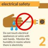 Det elektriska säkerhet och hälsosymboler och tecknet ställde in vektor illustrationer