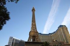Det Elffel tornet i Las Vegas royaltyfri fotografi