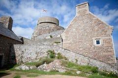 Det Elizabeth slottet, Sanktt Helier, Jersey, kanaliserar öar Arkivfoton