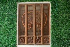 Det en brun kines Art Window Fotografering för Bildbyråer