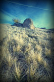 Det ensamt vaggar valley_v Arkivbild
