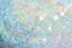 Det exklusiva höga slutet, blå guld- jul semestrar oskarpa ljus för bakgrund festligt härligt royaltyfri foto