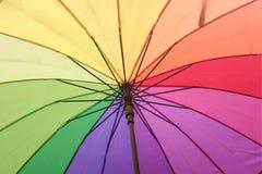 Det färgglade paraplyet Royaltyfria Foton