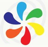 det färgrika begreppet parts hel togetherness Royaltyfri Bild