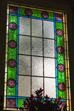 Det färgrika fönstret Arkivfoto