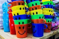 Det färgrika glass nöjet Fotografering för Bildbyråer