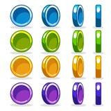 Det färgrika myntet, spelar vänd-baserad rotationsanimering Arkivfoton