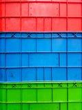 Det färgrikt av konstgjord plast- för bakgrund Arkivbild