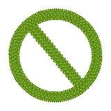 Det förbjudna tecknet som göras av kryddnejlikan för fyra Leaf stock illustrationer