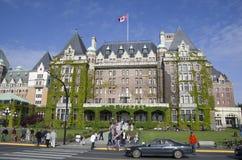 Det Fairmont kejsarinnahotellet Victoria F. KR. Kanada Arkivbilder