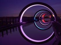 Det Falkirk hjulet på natten Royaltyfria Bilder