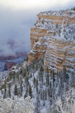 Sceniskt wintry grand Canyon Arkivfoton