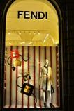 Det Fendi modemärket shoppar i Florence, Italien Arkivfoto