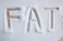 Det feta skriftligt för ord in i en hög Royaltyfria Foton