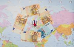Det finansiella klimatet i EU fotografering för bildbyråer