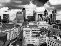 Det finansiella området av staden av London royaltyfri fotografi