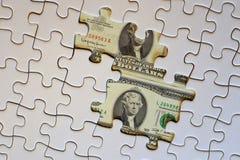 Det finansiella pusslet Arkivfoton