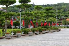 Det finns många flaggor på taipei martyr relikskrin Royaltyfri Foto