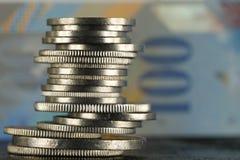 Det finns schweiziska pengar arkivbild