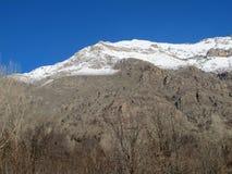 Det finns snö på det Qandil berget Royaltyfri Foto