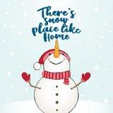 Det finns snöstället som hem stock illustrationer