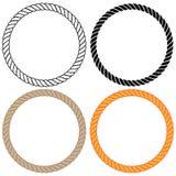 Det flätade vridna repet cirklar vektorillustrationen royaltyfri illustrationer