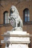 Det Florentine lejonet Royaltyfri Bild