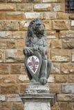 Det Florentine lejonet Arkivfoto