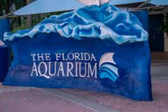 Det Florida akvariumtecknet royaltyfria bilder