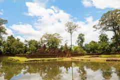 Banteay Srei Templ Arkivbild