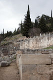 det forntida delphi greece museet fördärvar Grekland Arkivbilder