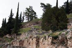 det forntida delphi greece museet fördärvar Grekland Royaltyfria Bilder