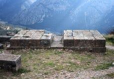 det forntida delphi greece museet fördärvar Grekland Arkivbild
