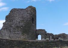 Det forntida fördärvar av den Aberystwyth slotten Royaltyfri Fotografi