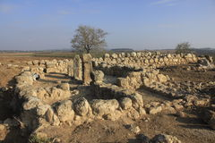 Det forntida fördärvar av Timna av Judea arkivfoton