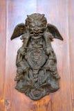 Det forntida heraldiska symbolet med ormen och draken Arkivfoto