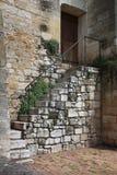 Det forntida medeltida huset i Beynac byar, Dordogne dal Arkivbilder