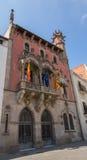 Det forntida stadshuset av den Granollers staden Royaltyfri Fotografi