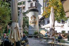 Det Forst bryggeriet som grundas i 1857, är bekant som ett av de största bryggerina i helheten av Italien och lokaliseras i skoge royaltyfri bild