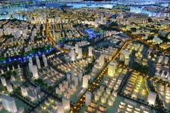 Det framtida landskapet av den amoy staden, porslin royaltyfri bild