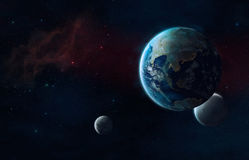 Det framtida universum royaltyfria foton
