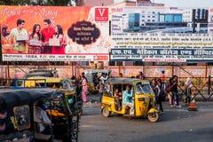 Det franka fotoet av den lokala livvägen i Indien Royaltyfria Bilder