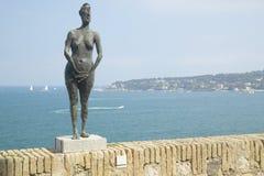 Det fria av det Picasso museet, Antibes, Frankrike Royaltyfri Bild