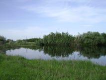 Det fridfulla lantliga landskapet Royaltyfria Bilder