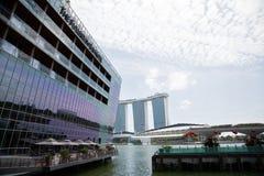 Det Fullerton fjärdhotellet på stranden Marina Bay Royaltyfri Fotografi