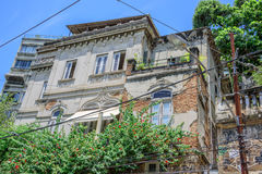 Det gamla övergav huset på det Santa Teresa området av Rio de Janeiro, Brasilien arkivbilder