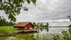 Det gamla båthuset Royaltyfri Foto