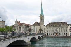 Det gamla centret av Zurich på Schweiz Royaltyfria Foton