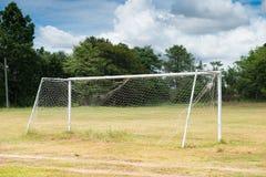Det gamla fotbollmålet Fotografering för Bildbyråer