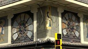 Det gamla härliga huset i Barcelona spain lager videofilmer